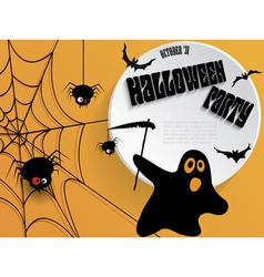 Creative halloween party poster with message vector