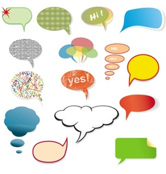 Original various speech bubbles on a white vector
