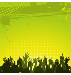 Abstract green background and crowd vector