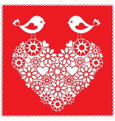 Birds for valentines day vector
