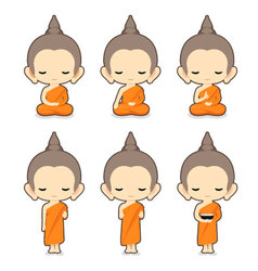 Buddhist monk character design- vector