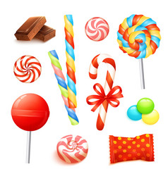 Candy realistic set vector