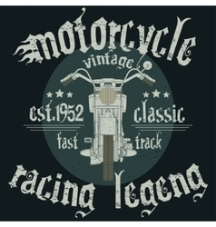 Motorcycle racing typography graphics vector