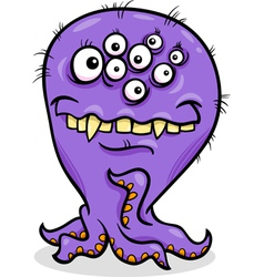 Cartoon funny monster vector