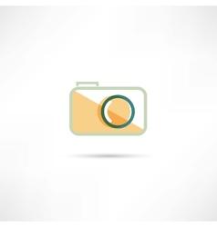 Color camera icon vector