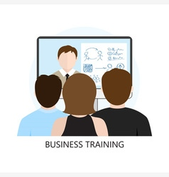 Business training icon flat design vector