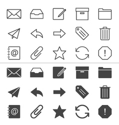 Email icons thin vector
