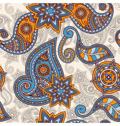 Seamless hand drawn paisley pattern clipping masks vector