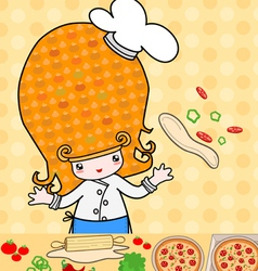 Little pizza vector