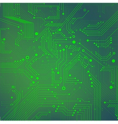 Green abstract background of digital technologies vector