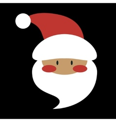 Flat design santa claus face icon vector