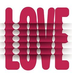 Folded love word vector
