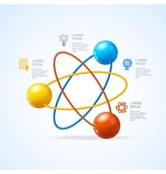 Atom infografic vector