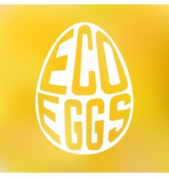 Silhouette of egg with text inside on blur vector