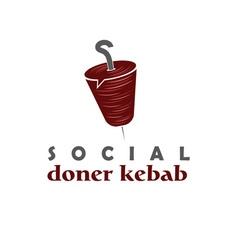 Social doner kebab concept design template vector