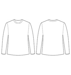 Longsleeves shirt vector