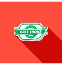 Best choice label  flat vector