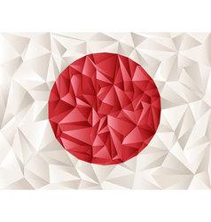 Origami flag vector