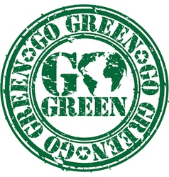 Go green stamp vector