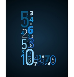 Letter l font from numbers vector