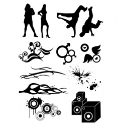 Hip hop designs vector