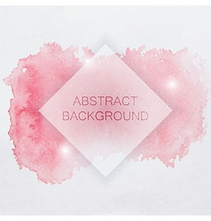 Abstract watercolor background with red splash and vector