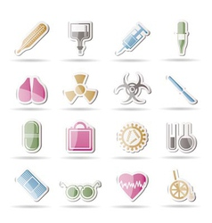 Medical themed icons vector