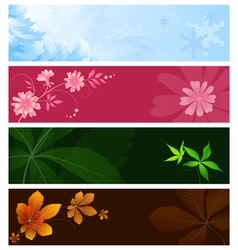 Seasonal banners vector