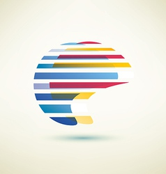 Abstract globe shape symbol vector