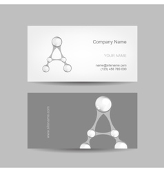Business card design with letter a vector