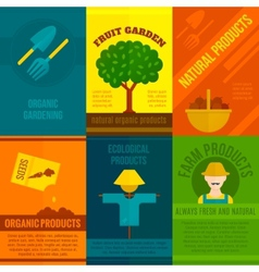 Ecological posters set vector