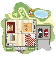 Floor plan of house vector