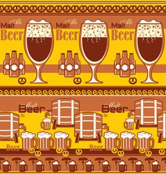 Beer striped background vector