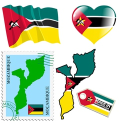National colours of mozambique vector