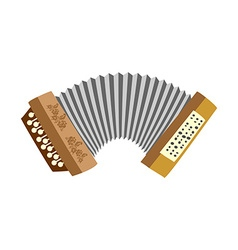Accordion musical instrument white background vector