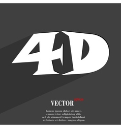 4d icon symbol flat modern web design with long vector