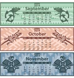 Calendar 2014 autumn vector