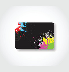 Grunge gift card vector