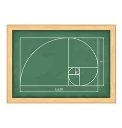 Golden proportion vector