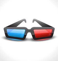 3d cinema glass vector