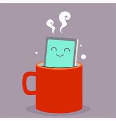 Smart phone coffee vector