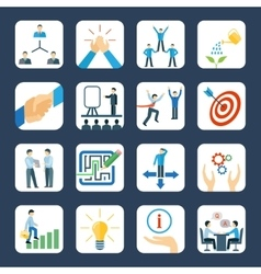 Mentoring flat icons set vector