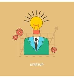 Idea as the beginning of startup eureka vector