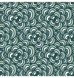 Seamless doodle simple floral pattern in winter vector