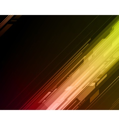 Abstract retro technology lines background vector