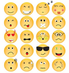 Set of emotion icons vector