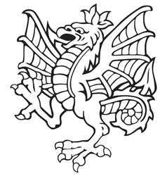 Heraldic dragon no3 vector