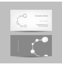 Business card design with letter c vector