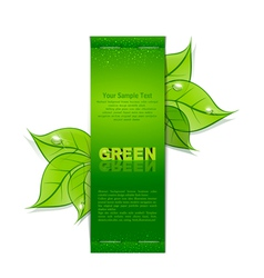 Green leaves banner vector