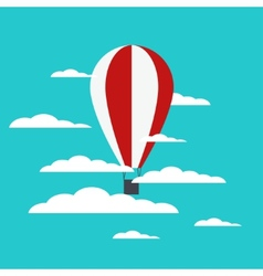 Hot air balloon with clouds vector